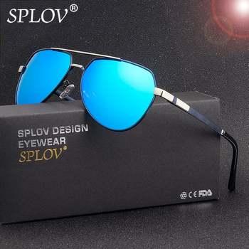 SPLOV 2018 Nouvelle Mode Aviation lunettes de Soleil Polarisées Hommes Lunettes de Soleil Classique Pilote Conduite Métal Cadre Haute Qualité Lunettes