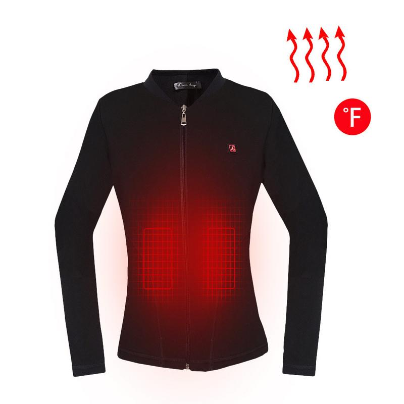 Women Usb Heater Hiking Heated Thermal Clothes Winter Outdoor Running Windproof Heating Electric Jacket Shirt