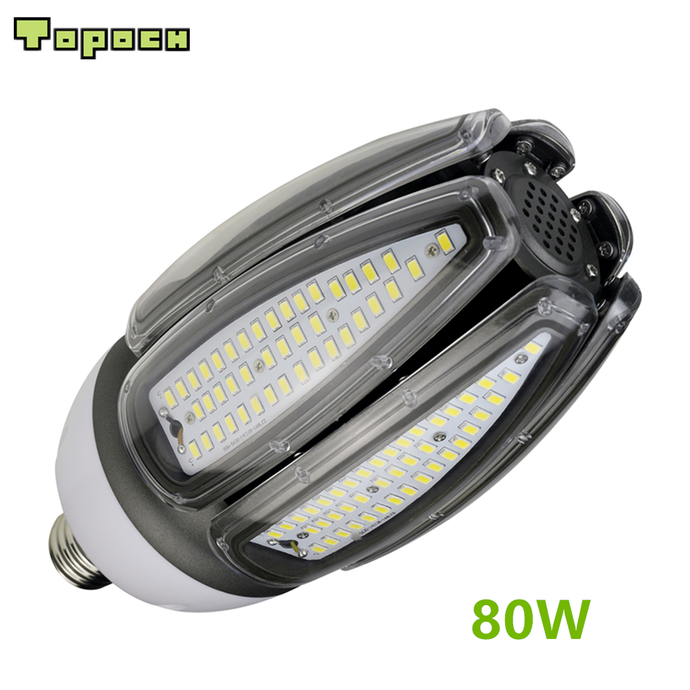 Topoch 500W Halogen Bulb LED Replacement 80W 10000LM CE UL Listed E40 E39 Base IP65 for Outdoor Indoor Area Lighting topoch led corn bulb street light 54w 6500 lm ul dlc listed hid replacement mogul e39 base ip64 outdoor indoor area lighting