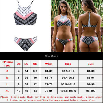 Hot Bikini Set 2019 Women Push up Bikini padded bandage swimwear swimsuit Beach Bathing Suit 2