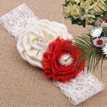 Hair Accessories 1pc Newborn Baby Flower Headband Baby Flower Children Lace Headband Girls Headdress flower overlay headband