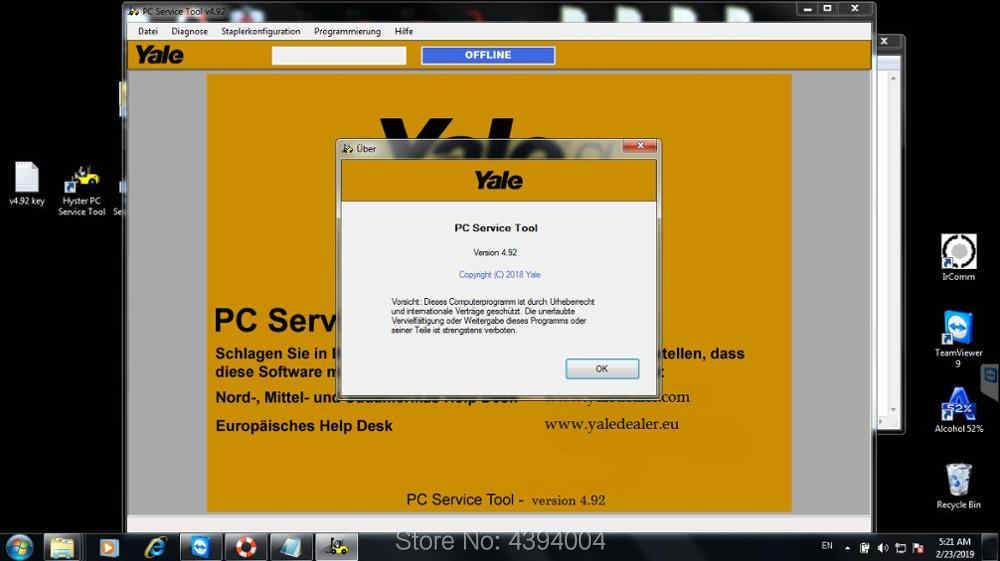 2019 newest Hyster and Yale PC Service Tool v 4 92 diagnostic and