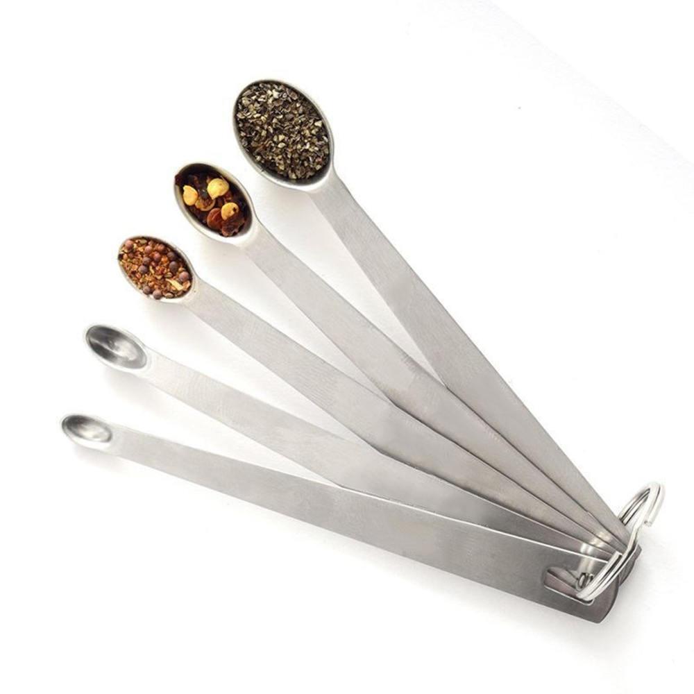 5 Pcs Mini Norpro 18/10 Stainless Steel Smidgen Dash Measuring Spoons Pinch Set Measuring Spoon Kitchen Supplies