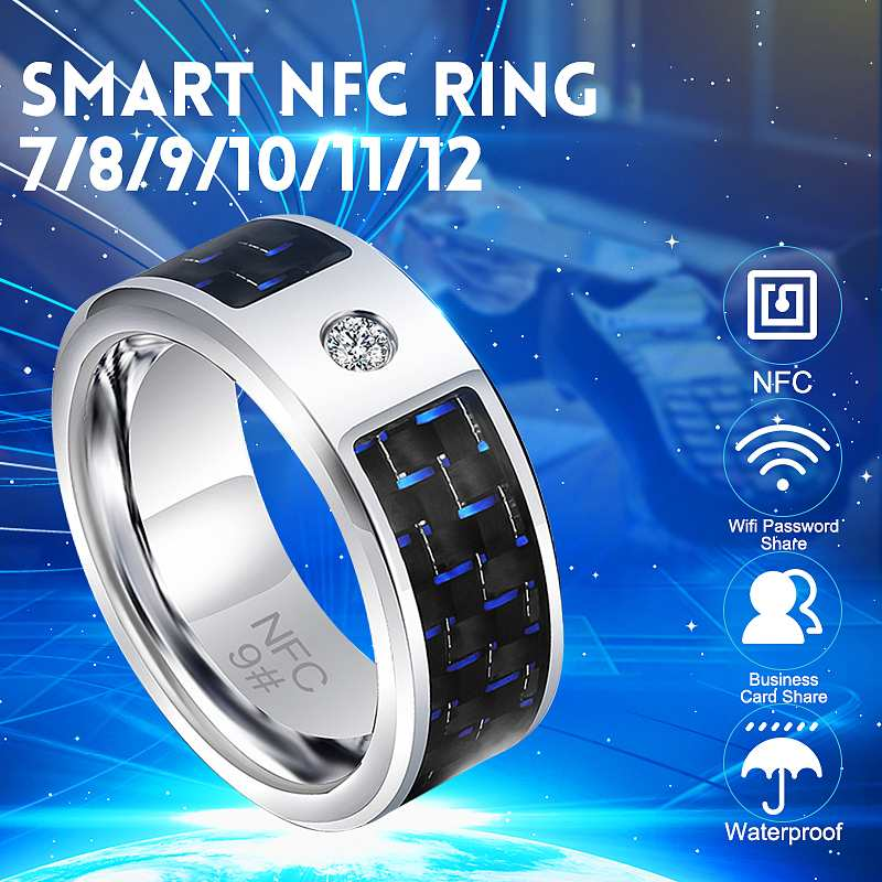 2019 New 7/8/9/10/11/12 Fashion Elegant Jewelry Rings Wear Magic NFC Smart Ring For Ios Android Windows Mobile Phone