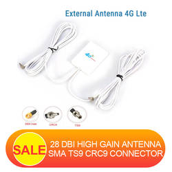 3g 4G LTE антенны TS9 CRC9 SMA разъем 4G LTE маршрутизатор Anetnna внешняя антенна с 2 м кабель для huawei 3g 4G LTE модем-маршрутизатор