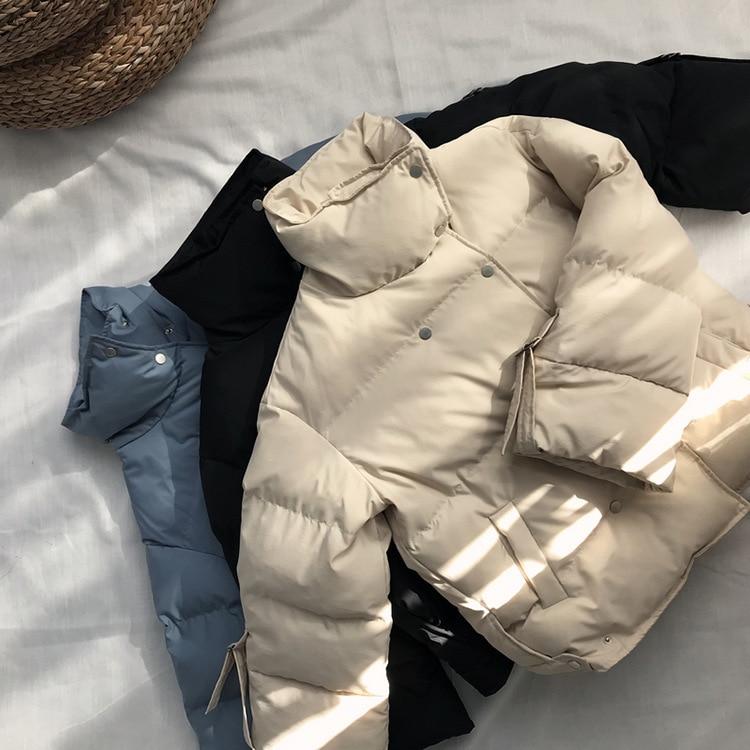 Mooirue 2018 Winter   Parka   Turtleneck Harajuku Casual Jacket Female Cotton Loose Printing Long Sleeve Bodycon Cotton Apparel Coat