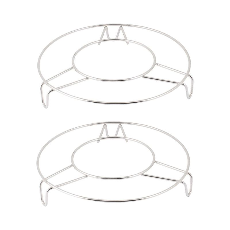 Stainless Steel Round Steamer Rack Stand 6 Inch Diameter 2 Pcs
