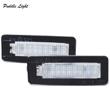 2x 18smd led car styling Canbus No error code License Plate lamp For Smart W450 Fortwo Rear number plate light auto Accessory все цены