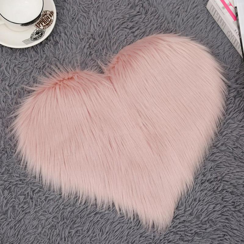 Long Hairy Rug Blue White Pink Shaggy Carpet Love Heart