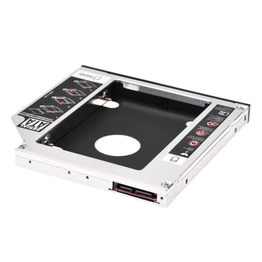 SATA 2nd HDD HD Gehäuse Festplatte Caddy Fall Fach, universal für 12,7mm Laptop CD/DVD-ROM Optische Bay Drive Slot (für SSD