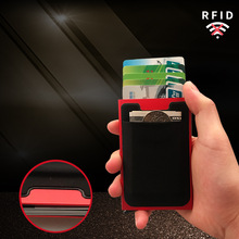 Card cover Credit Degaussing of Aluminum Alloy Automatic Pop-up Business Elastic Cloth