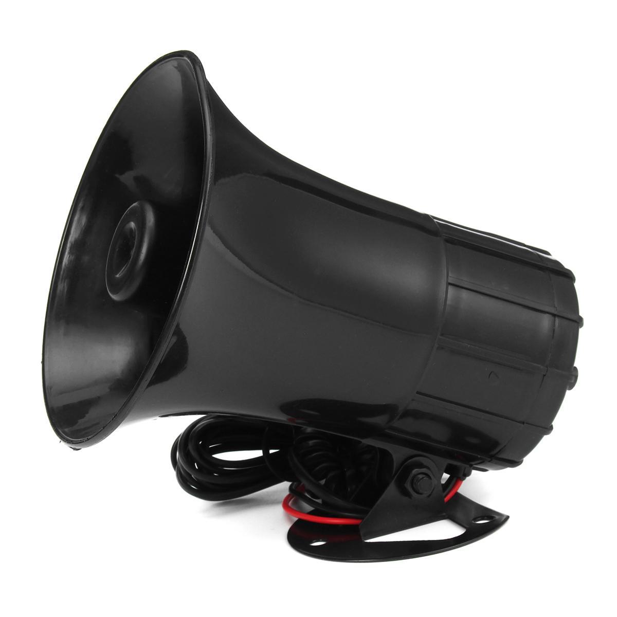 12V 100W 300DB Loud Car Truck 7 Sound Tone Warning Alarm Horn PA Speaker Mic Kit