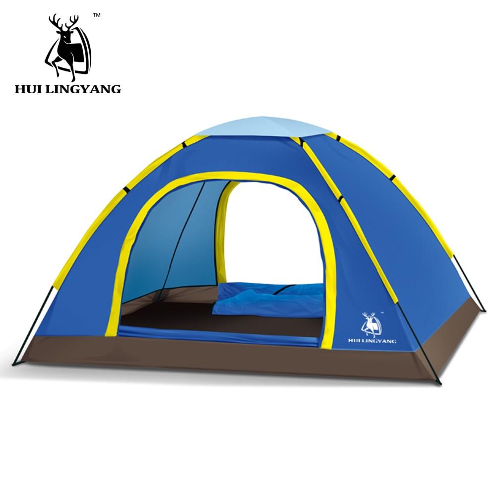 1-2 personne 200*145*105 cm GAZELLE Tente Silicone Tissu Ultra-Léger Unique Couche Tige En Fiber De Verre tente de camping 4 saisons Abri