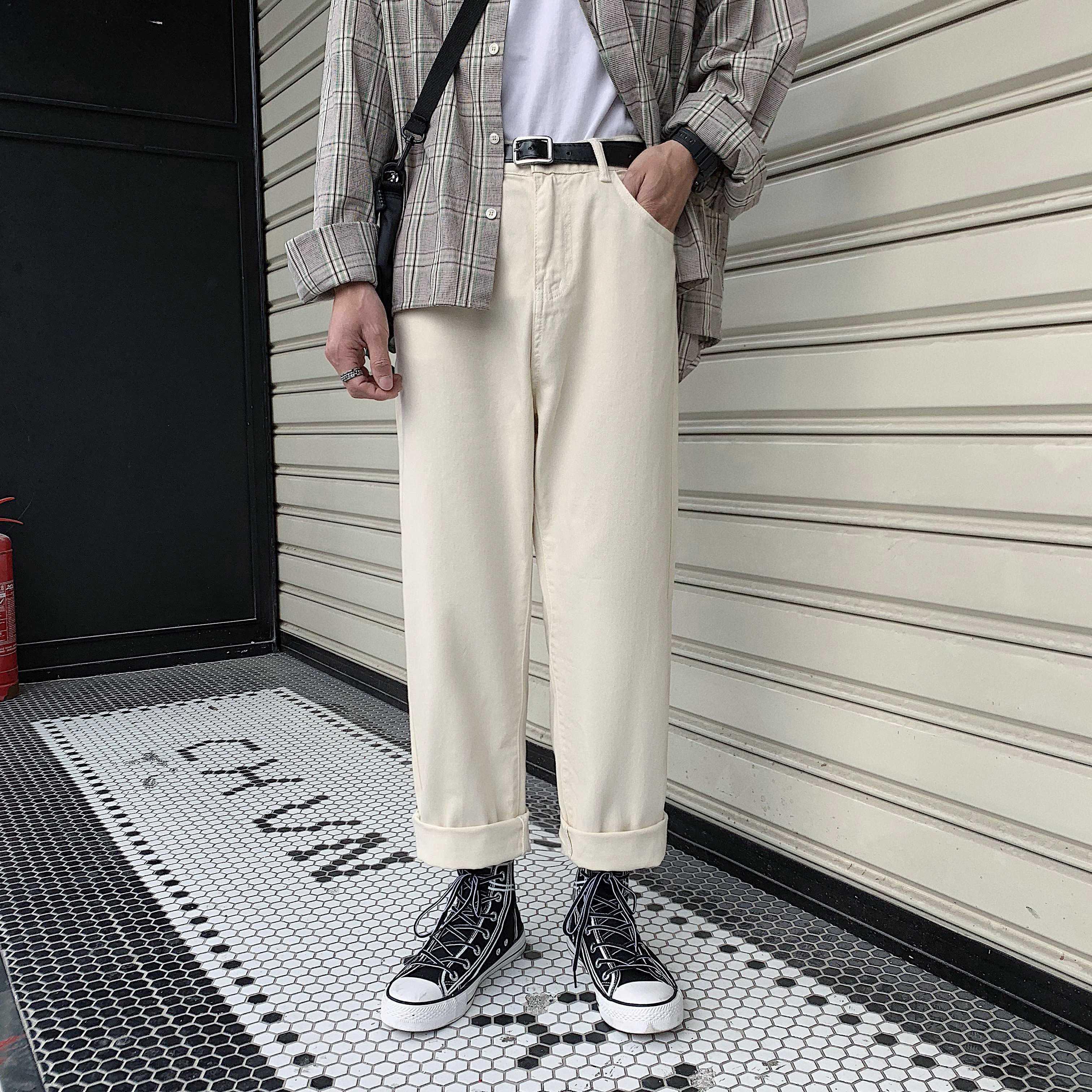 Japanese pants Mens clothing Oversized pants Mens pants Mens tailored pants Mens loose pants Mens black pants Mens patterned pants