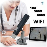 2MP 600X LED Portable WIFI Wireless Digital Microscope with Clear Image for Hair Skin Care Analysis Medical Cosmetology