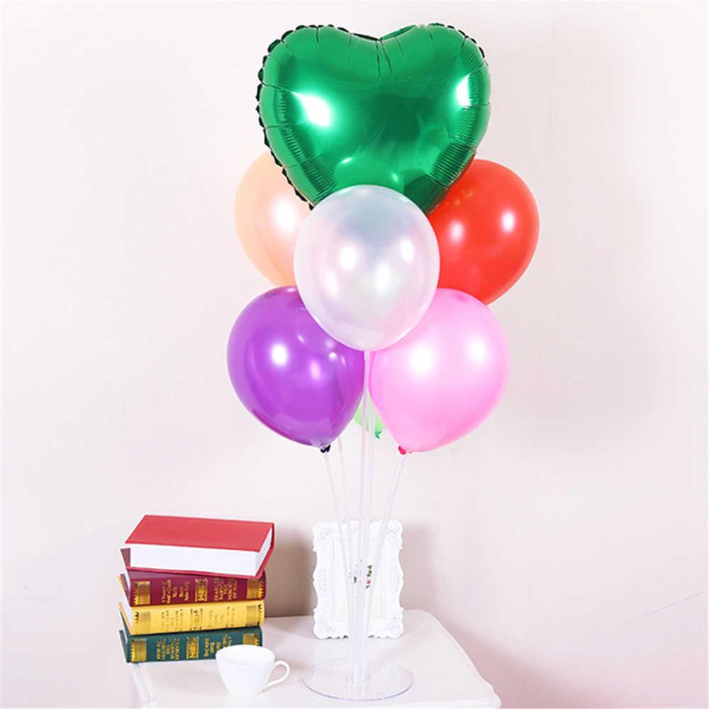 7 tubos soporte de globos soporte de columna plástico transparente varilla para Globo fiesta de cumpleaños decoración niños adultos boda decoración con globos