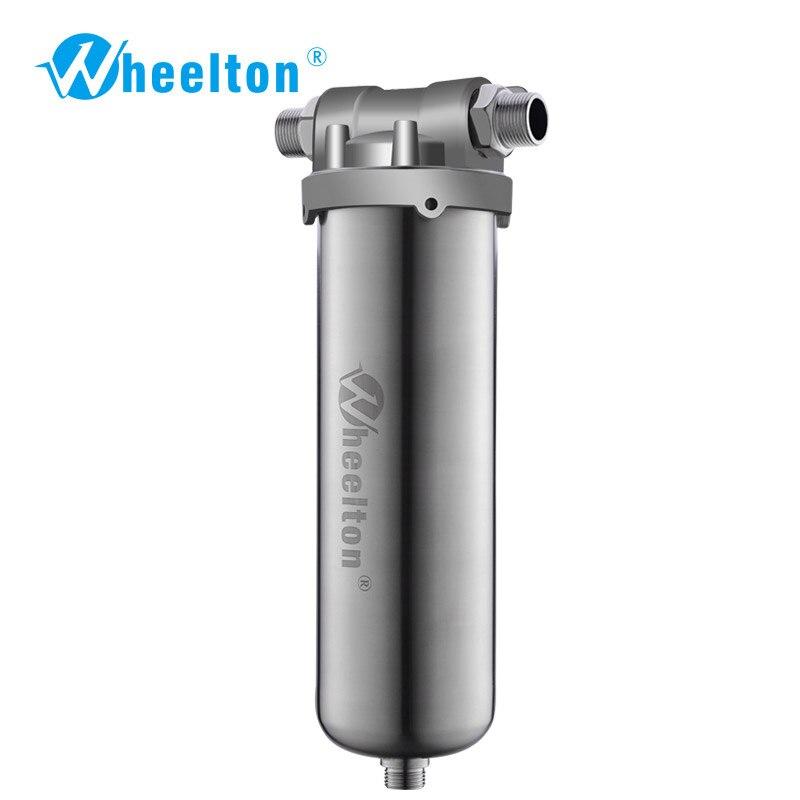 Wheelton SUS304 Wholehouse Pré Filtro de Água Filtro de Sedimentos Ferrugem Proteger Casa Água 8000L/H O Suficiente para Café Freeshipping