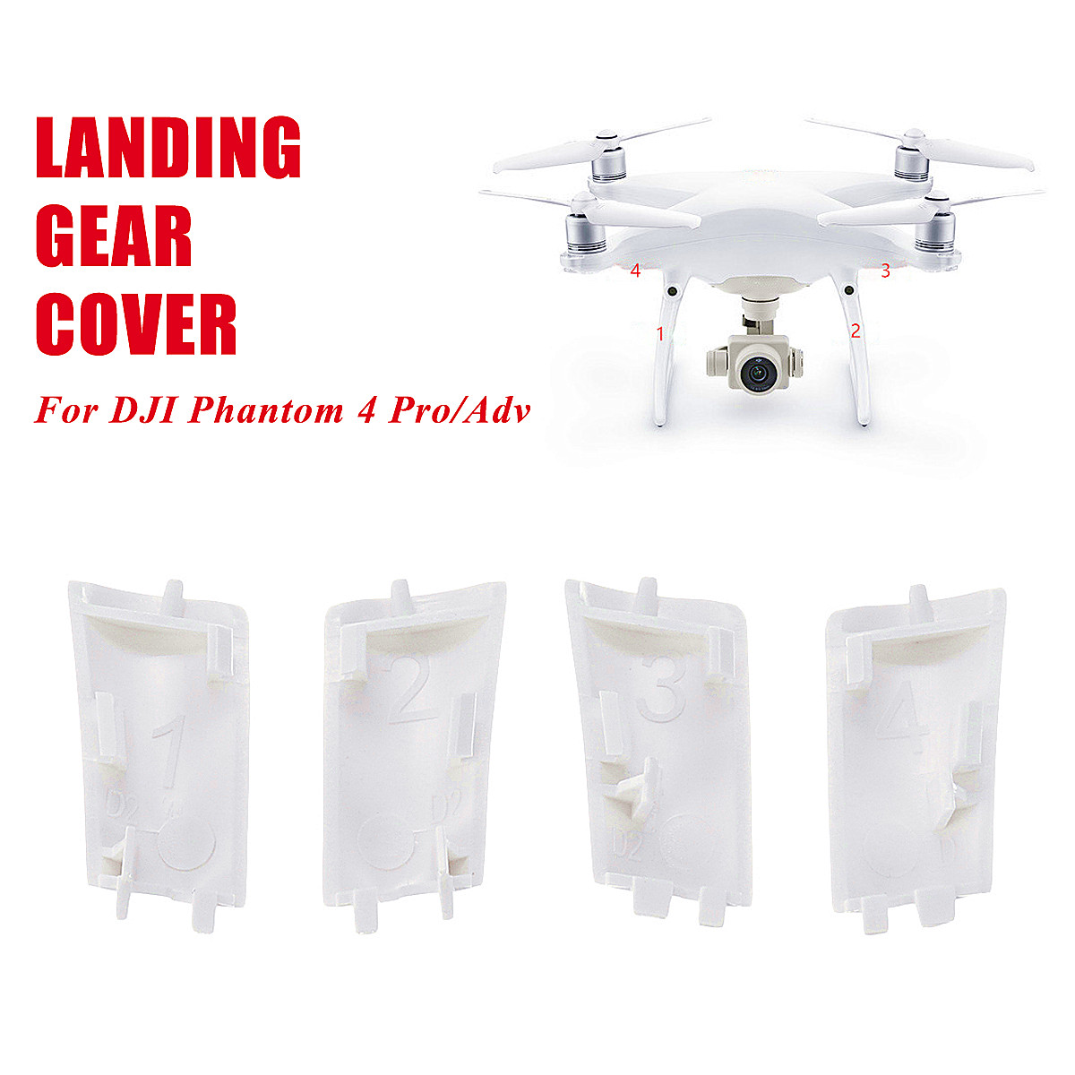 1Set 4Pcs Landing Gear Cover Case Repair PartsBody Shell Repair Spare Parts For DJI For Phantom 4 Pro/Adv Drone New Arrival1Set 4Pcs Landing Gear Cover Case Repair PartsBody Shell Repair Spare Parts For DJI For Phantom 4 Pro/Adv Drone New Arrival