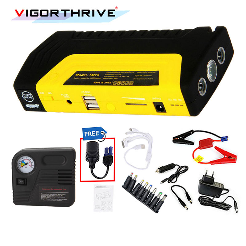 <font><b>Car</b></font> <font><b>Charger</b></font> Auto Engine <font><b>Car</b></font> Jump Starter 12V Mini Emergency Start <font><b>Car</b></font> Booster Power Bank <font><b>Battery</b></font> starter With Electric Air Pump image