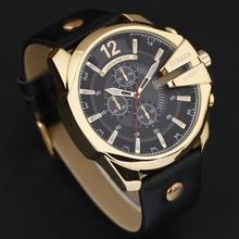 цена Curren 8176 Men Watches Top Brand Luxury Gold Male Watch Fashion Leather Strap Outdoor Casual Sport Wristwatch With Big Dial онлайн в 2017 году