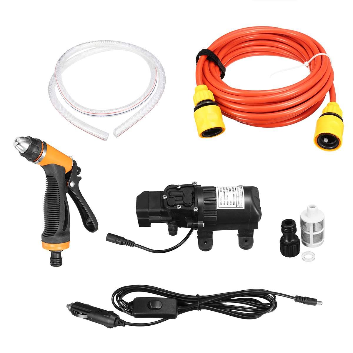 Lave-auto 12 V 65 w 4L/min haute pression lave-auto pompe à eau Kit Portable lave-linge allume-cigare Marine pont pulvérisateur