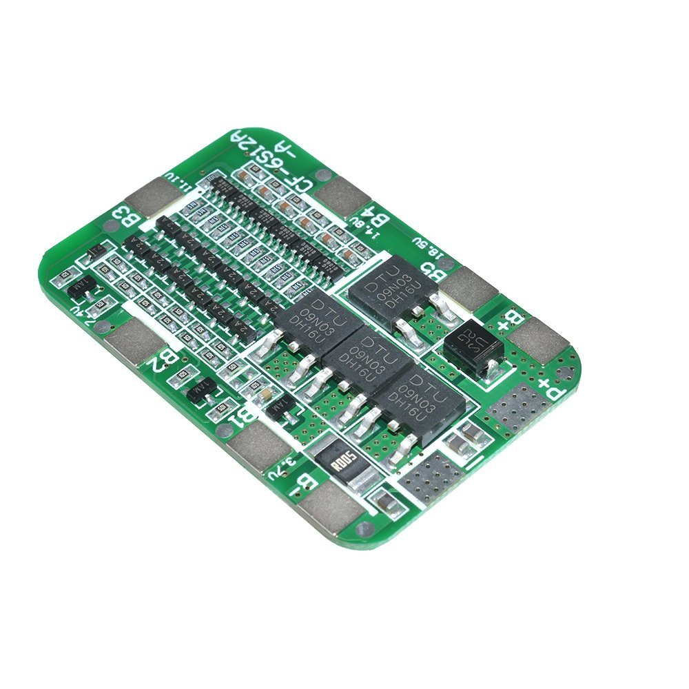 Image 4 - 1PCS 6S 15A 24V PCB BMS Protection Board For 6 Pack 18650 Li ion Lithium Battery Cell Module diy kit-in Battery Accessories from Consumer Electronics