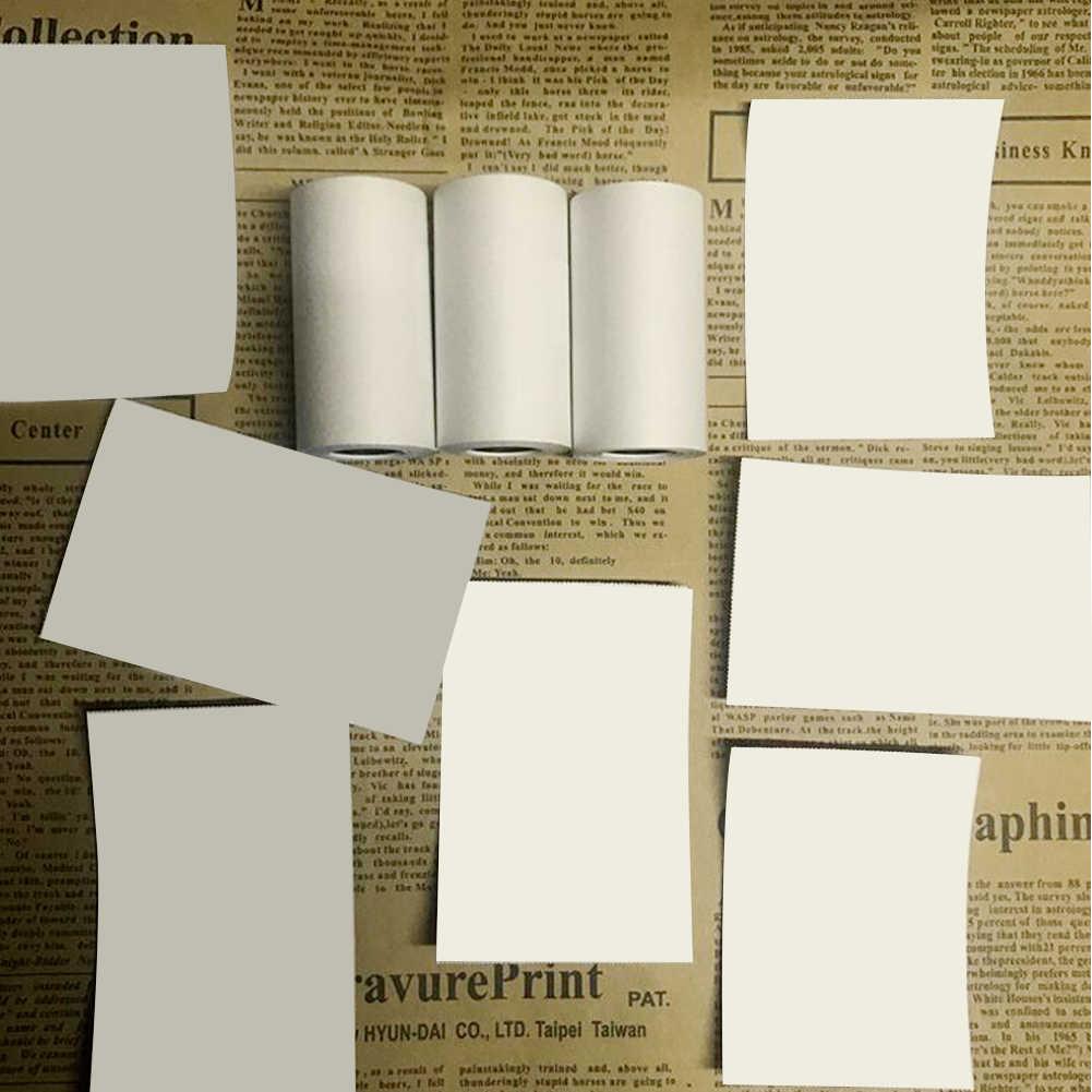 57*30 Mm Perekat Termal Stiker Pencetakan Kertas untuk Paperang Printer Foto