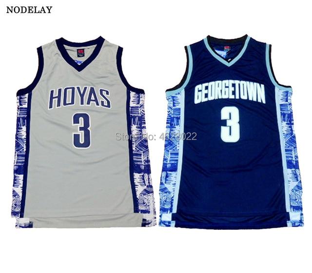 a6611578882e ... amazon nodelay mens georgetown hoyas university 3 allen iverson jersey  navy blue gray college basketball stitched