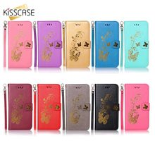 KISSCASE Fashion Butterfly Pattern Phone Case For Xiaomi Redmi 4A 4X 5A 6 6A 3S 5 Plus Note Pro Fundas Cover s