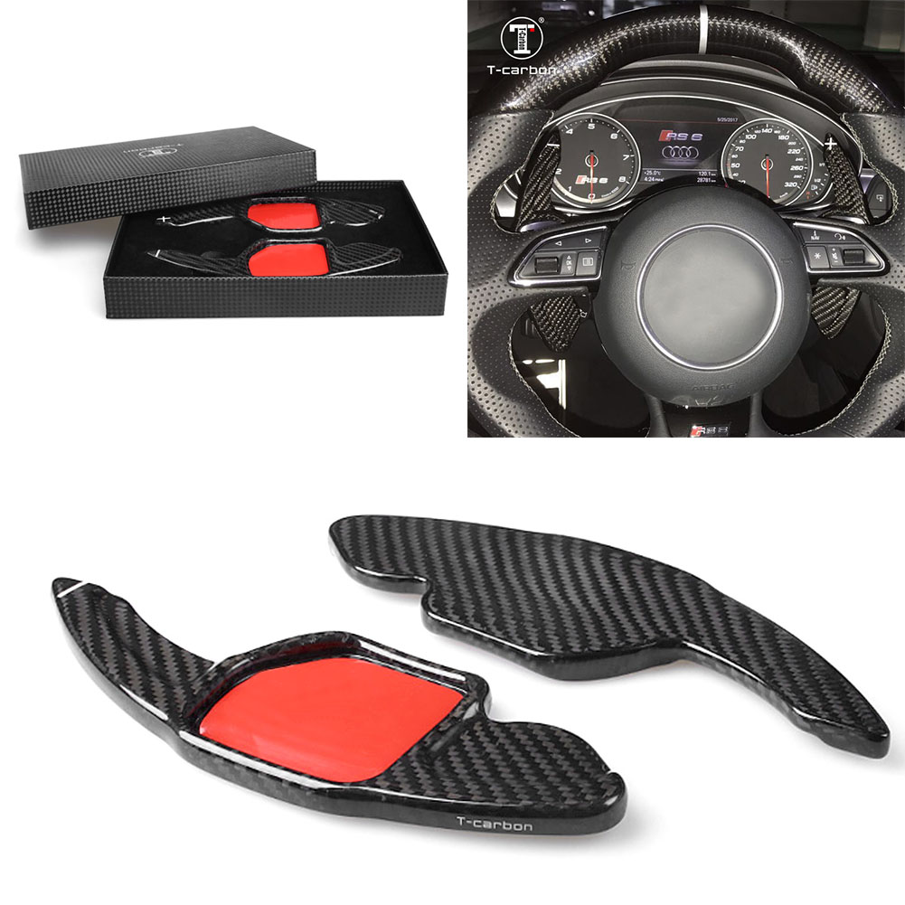 Carbon Fiber Steering Wheel Shift Paddle Extension For Audi A3 RS3 A5 RS6 A4L A6L R8