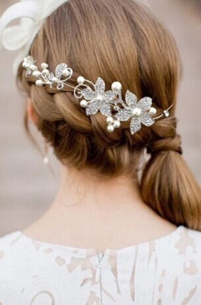 Bride Ornaments Wedding Dress Bride Headwear Soft Chain Beauty Sweet Grils/Women Hair Jewelry Accessories Hot Sell Free Shipping
