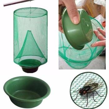 Health Effective Pest Control Reusable Hanging Fly Catcher Killer Flies Flytrap Zapper Cage Net Trap Garden Home Yard Supplies