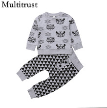 d2c09198f 2018 Multitrust Brand Cute Toddler Kids Baby Girl Boy Cartoon Animal Anime  Sweatsuit Tops Long Tri Pants Outfits Autumn Clothes