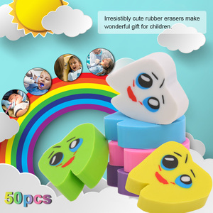 Image 5 - 50 pièces/sac molaire en forme de dent gommes en caoutchouc dentiste clinique école grand cadeau pour les enfants