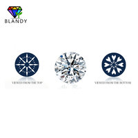 8 Hearts and 8 Arrows White Cubic Zirconia 50~80mm Round European Star Cut CZ Stone Synthetic Gems For DIY Jewelry