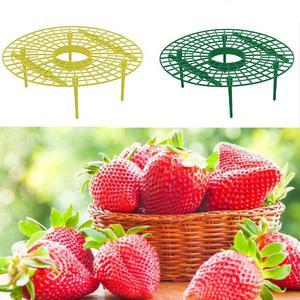 Image 5 - 10pcs צמח פלסטיק כלי תות גדל מעגל תמיכה מתלה חקלאות לשפר קציר מסגרת קל משקל נשלף קל להתקין