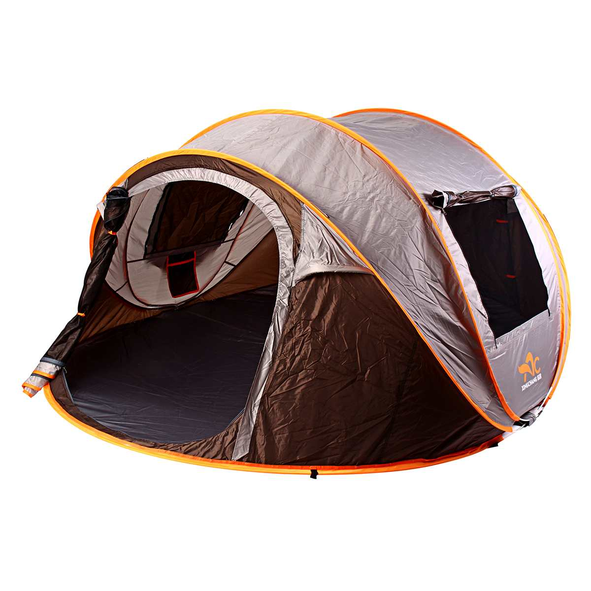 Instant Auto Open Tent 5-6 Person Family Portable Waterproof Camping Tent Outdoor Backpacking Fishing Accessories FoldableInstant Auto Open Tent 5-6 Person Family Portable Waterproof Camping Tent Outdoor Backpacking Fishing Accessories Foldable