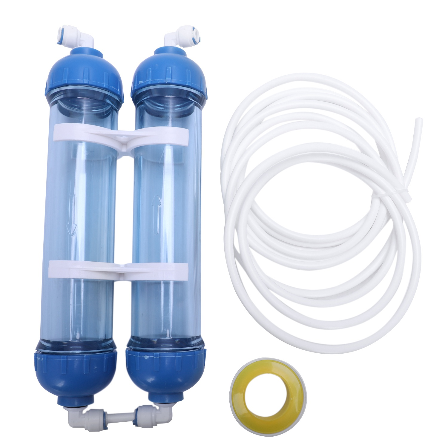 Water Filter 2Pcs T33 Cartridge Housing Diy T33 Shell Filter Bottle 4Pcs Fittings Water Purifier For Reverse Osmosis System