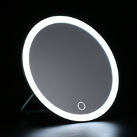 LED Lighted Makeup Mirror with Stand Desk Cosmetic Mirror USB Rechargeable Tool with 3X Magnifying Mirror vanity mirrors