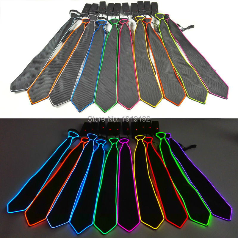 Bar 1 Stück Neue Design Licht 10 Farbe El Krawatte Licht Up Led Krawatte Glühende Für Party Dekoration Club Cosplay Zeigen Durch 3 V Stetigen Auf Fahrer