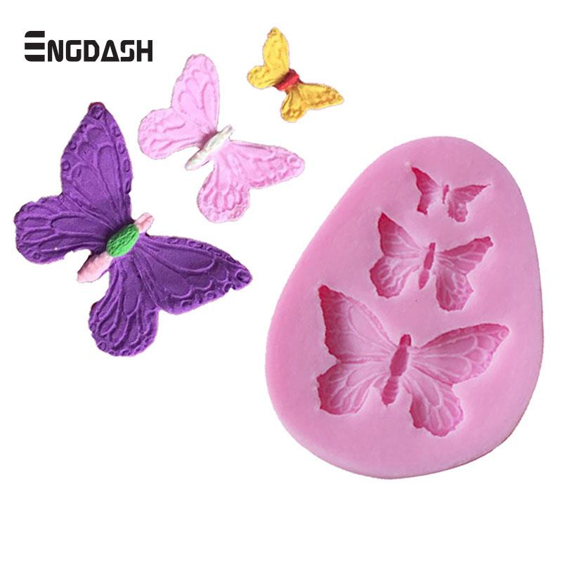 Bakeware Engdash 3d 2pcs/set Lace Silicone Mold Shape Fondant Tool Kitchen Bakeware Decoration Flower Butterfly Diy Tools High Quality