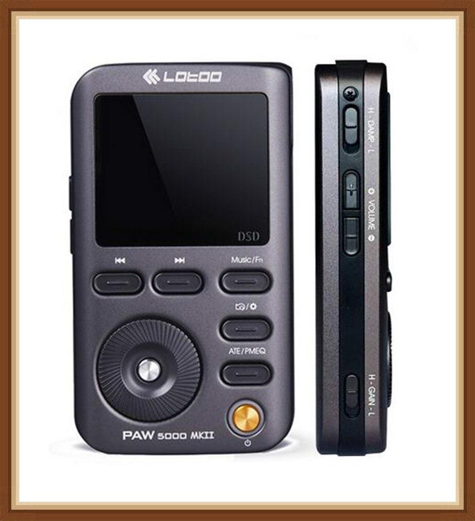 LOTOO PAW5000 MKII HIFI Lossless Música Áudio Portátil Bluetooth LED DSD DAC 2.5 milímetros USB Equilibrada MP3 Music Player
