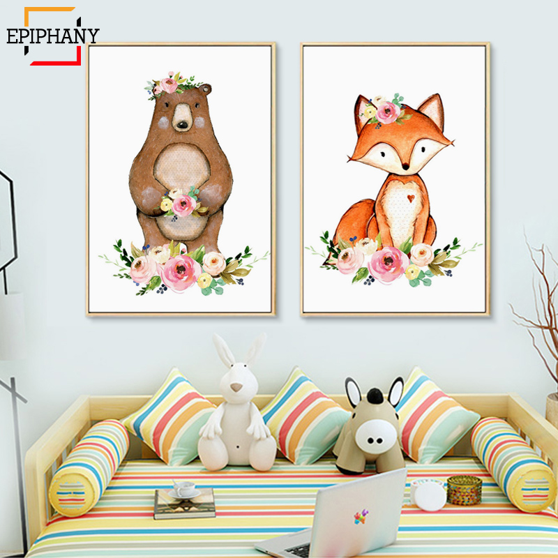Wall Art Prints Baby Nursery Decor Deer