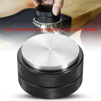 51mm Stainless Steel Coffee Bean Press Tool Kitchen Coffee Tamper Coffee Bean Distributor Press Tool Coffee Powder Hammer