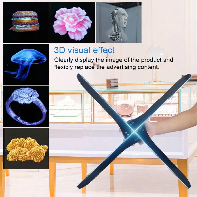 US $444 23 30% OFF|FA60N 3D LED Holographic Fan Exhibition Projector WIFI  16GB Hologram Advertising Displayer 100 240V for Shopping Malls Subway-in