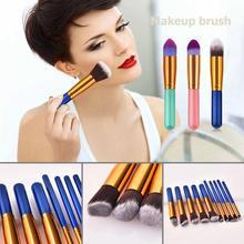 10pcs Portable Professional Makeup Brushes Set Powder Foundation Eyeshadow Blush Cosmetic Tool