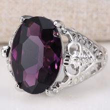 Огромное 6Ct натуральное Александритовое кольцо серебряное свадебное обручальное кольцо Размер 6-10 изящное для демонстрации очаровательной личности женщин