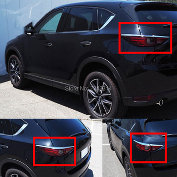 For Mazda CX-5 KF 2017 2018 ABS Rear Headlight Lamp Eyebrow Tail Lights Eyelid Cover Protector Sticker Exterior Car Accessories