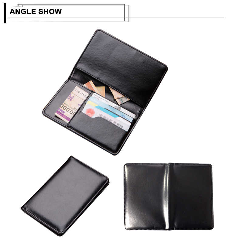 dc5254d2076e Fashion Ultra-thin Travel Passport Cover Card Case Women Men Travel ID  Document Long Wallet PU Leather Travel Credit Card Holder