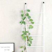 2pcs Artificial Eucalyptus Leaves Vine&2pcs Simulated Willow Leaf Rattan Home Decor False Leaf DIY Garland Pendant